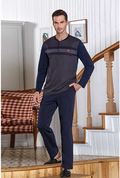 Berrak Uzun Kol Erkek Pijama Takımı 534 Lacivert