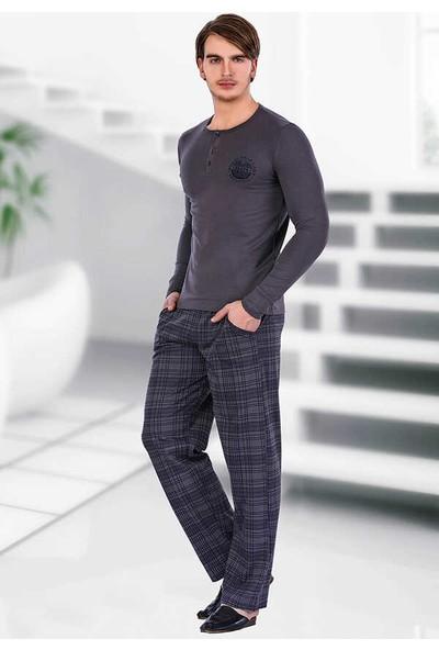 Berrak Uzun Kol Erkek Pijama Takımı Berland 3702 Lacivert