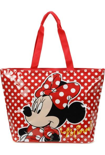 Minnie Mouse 84849 Kırmızı Kız Çocuk Plaj Çantası