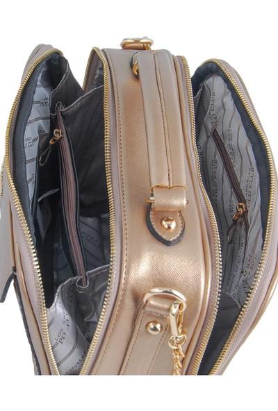 Los Angeles Polo Club 6341 Uzun Askılı Kadın Çantası Altın