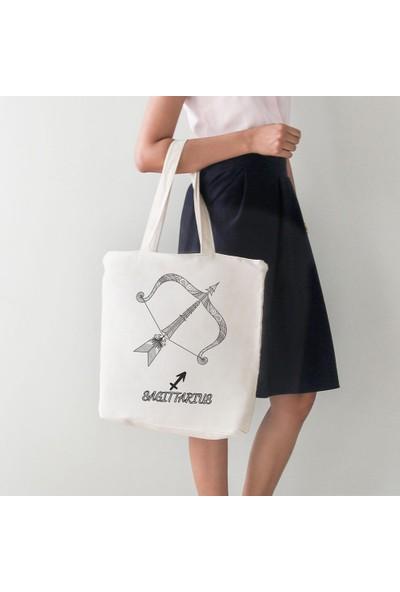 Angemiel Bag Sagittarius Yay Burcu Bez Alışveriş Plaj Çanta