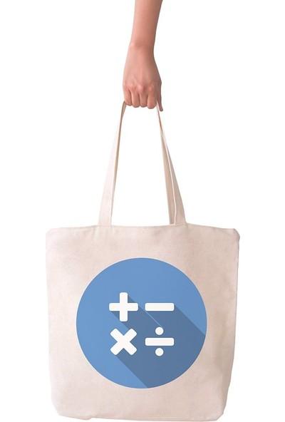 Angemiel Bag Büyük Hesap Butonu Alışveriş Plaj Bez Çanta