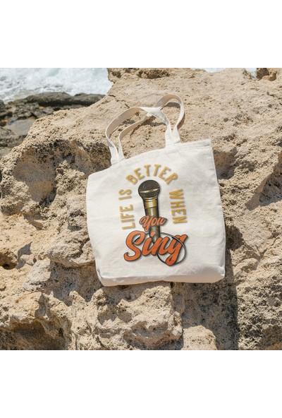 Angemiel Bag Life İs Better When You Sing Bez Çanta