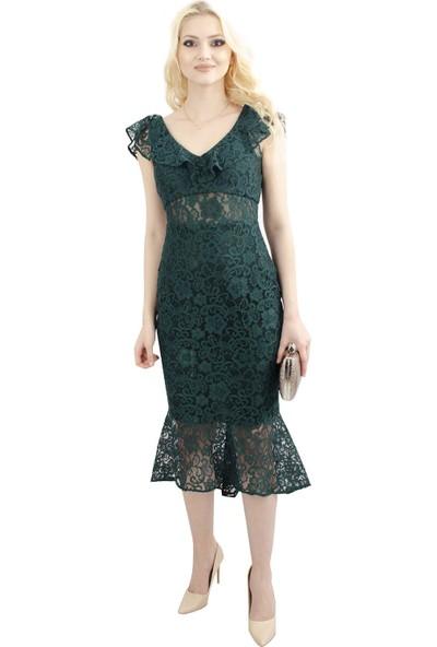 Arda New Line Kadın Zümrüt Elbise 130137-10.123