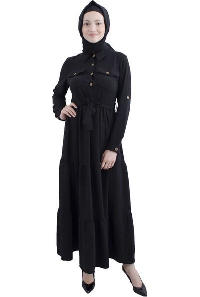 Arda New Line Siyah Elbise 3561833-10.01