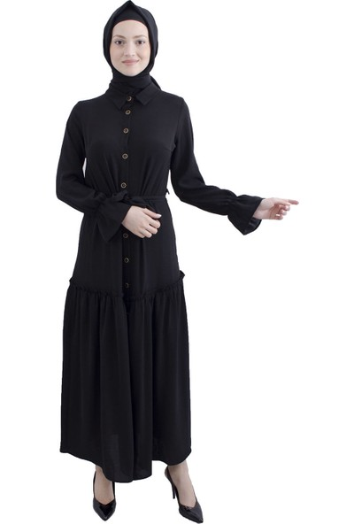 Arda New Line Siyah Elbise 3561847-10.01