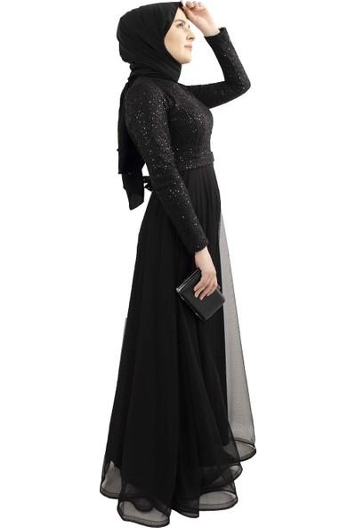 Arda New Line Kadın Siyah Abiye 6502165-10.01