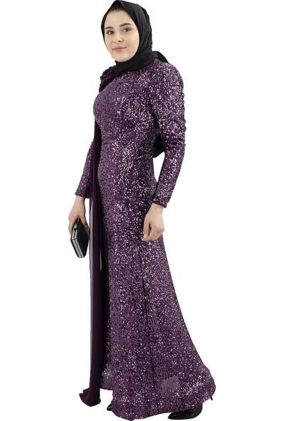 Arda New Line Kadın Mor Abiye 6502175-10.03