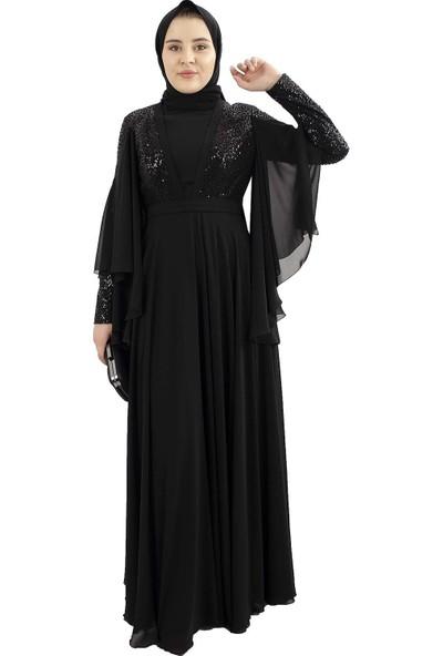 Arda New Line Kadın Siyah Abiye 6502185-11.01