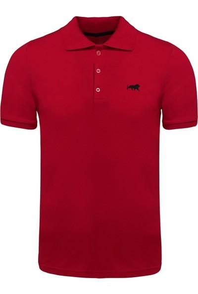 Genius Store Erkek Basic Bordo Polo Yaka T-Shirt