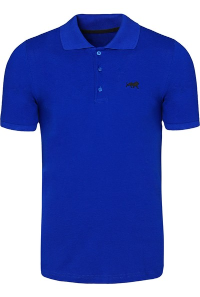 Genius Store Erkek Basic Saks Polo Yaka T-Shirt