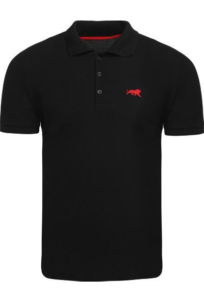 Genius Store Erkek Basic Siyah Polo Yaka T-Shirt
