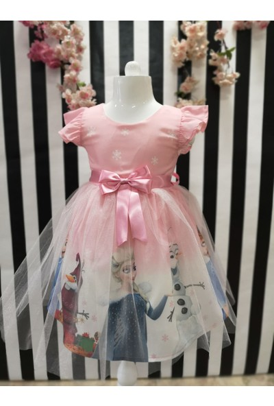 Pumpido Elsa Kız Çocuk Elbise