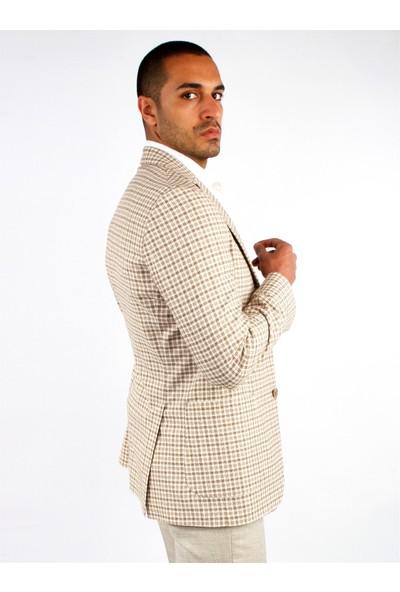 Dufy Erkek Ekose Desen Kombinli Takım Galvin Sn Slimfit