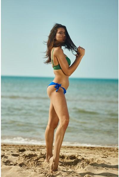 ZiButik Yeşil Diana Straplez Kadın Bikini Üstü