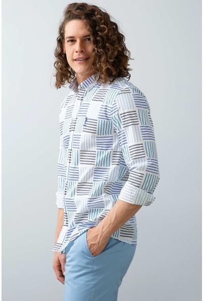 U.S. Polo Assn. Erkek Dokuma Gömlek 50203426-VR036