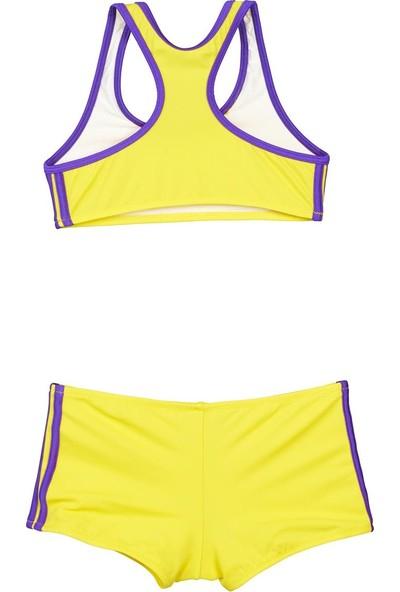Bombi Kız Çocuk Yüzücü Bikini Sarı 194211