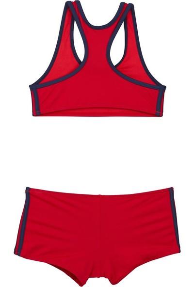 Bombi Kız Çocuk Yüzücü Bikini Kırmızı 194211