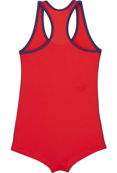 Bombi Kız Çocuk Şortlu Yüzücü Mayo 194104 Kırmızı