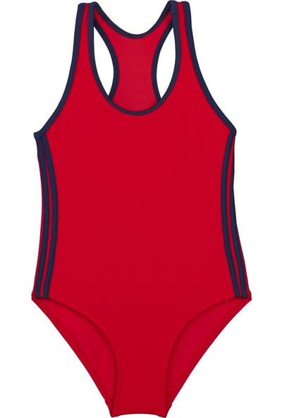 Bombi Kız Çocuk Yüzücü Mayo Kırmızı 194102