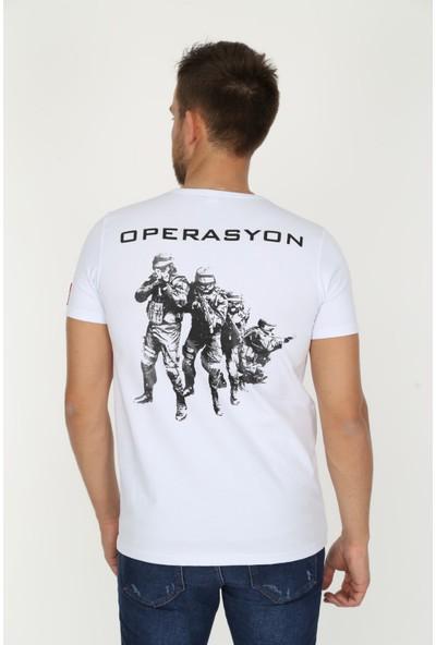 Genius Store Erkek Baskılı Military T-Shirt (Yeni Ürün)