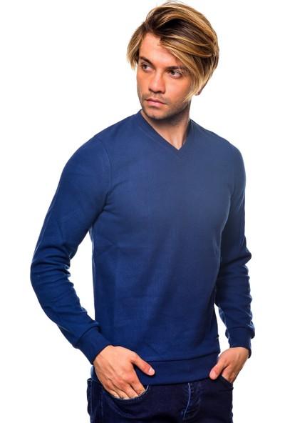 Iceboys V Yaka Düz Selanik Uzun Kollu T-Shirt