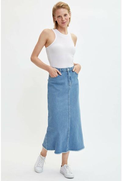 Defacto Kadın Uzun Jean Etek