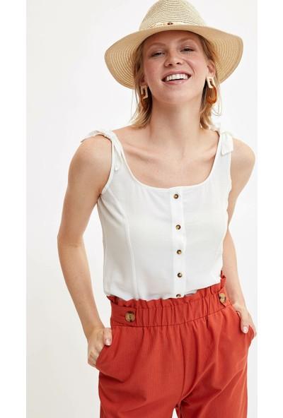 Defacto Kadın Askılı Düğmeli Bluz