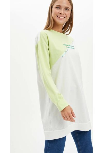 Defacto Kadın Renk Bloklu Relax Fit Tunik