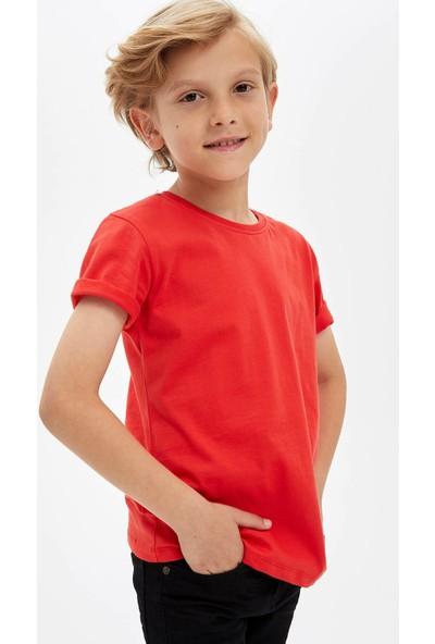 Defacto Erkek Çocuk Basic Kısa Kollu T-Shirt