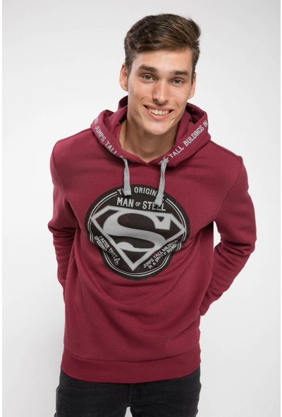 Defacto Erkek Superman Lisanslı Slim Fit Sweatshirt