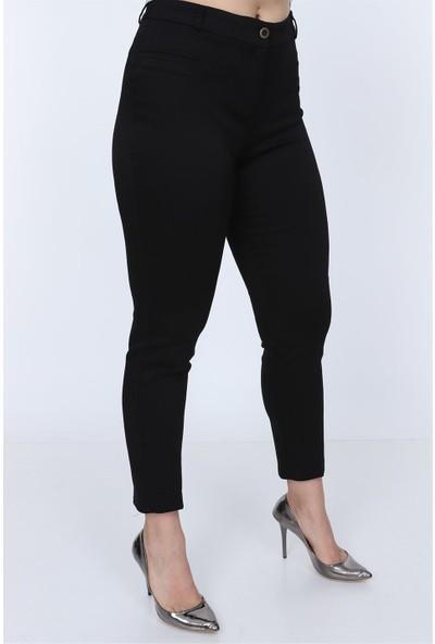 Rmg Cep Detaylı Siyah Pamuk Pantolon