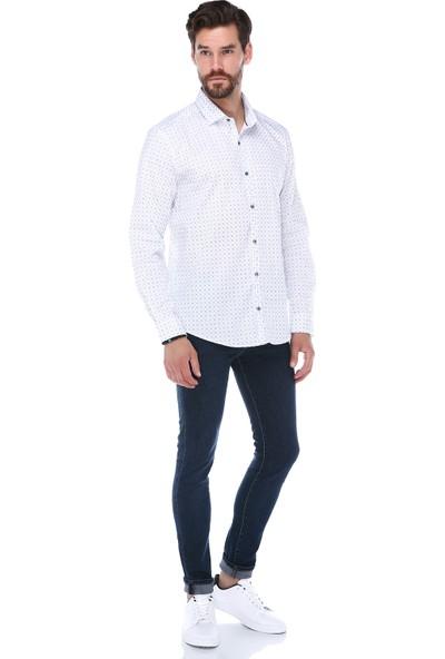 Manche Beyaz Premium Gömlek | ME19S112033