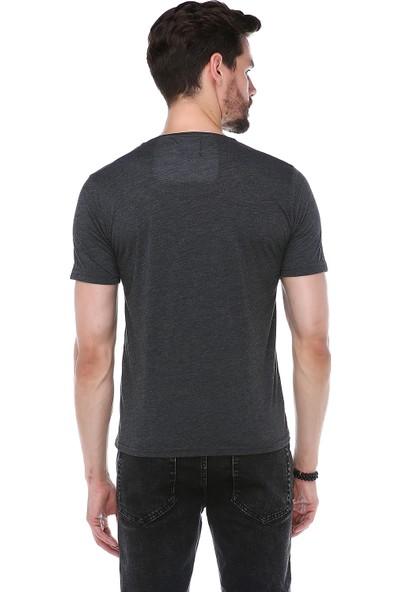 Manche Antrasit Baskılı T-Shirt | ME19S214423