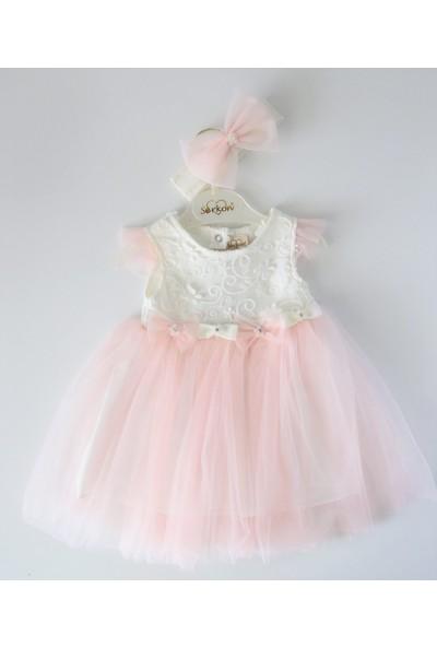 Edda Bebek Kız Çocuk Bandanalı Tül Elbise