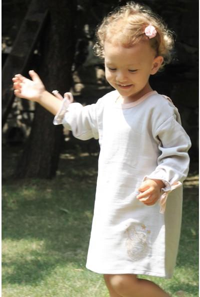 Auntie Me Gri Rhino Kız Çocuk Uzun Kollu Elbise