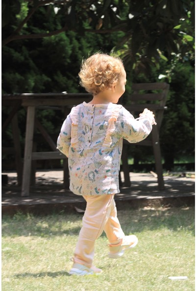 Auntie Me Gri Stardust Uzun Kollu Bluz
