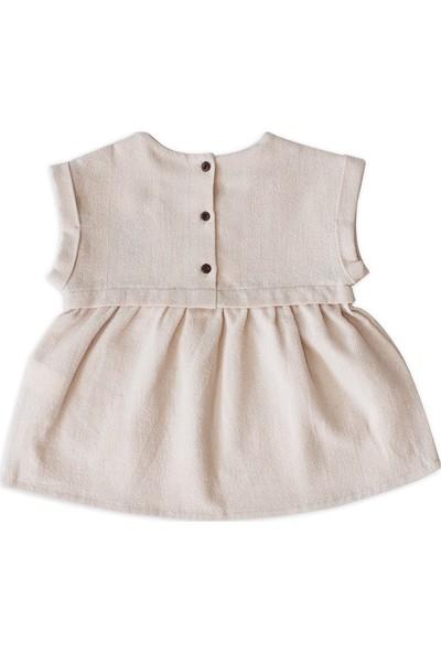 Auntie Me Pudra Kız Çocuk Shell Elbise