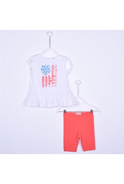 Silversun Kız Bebek Altı Pileli Baskılı T Shirt Sort Tk. KT 111851