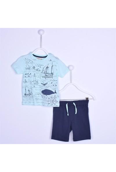 Silversun Erkek Bebek Bisiklet Yaka Baskılı T Shirt Sort Tk. KT 111432