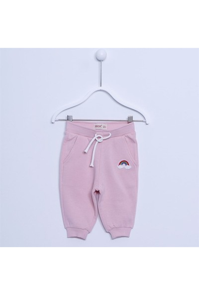 Silversun Kız Bebek Pamuklu Nakış Detaylı Pantolon JP 111758