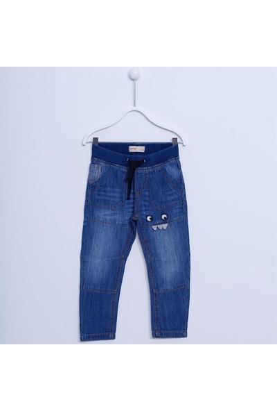 Silversun Erkek Çocuk Nakışlı Denim Pantolon PC 210998