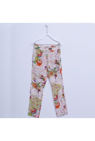 Silversun Kız Çocuk Desenli Viskon Pantolon PC 311891