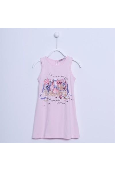Silversun Kız Çocuk Kolsuz Baskılı Likralı Elbise EK 213617