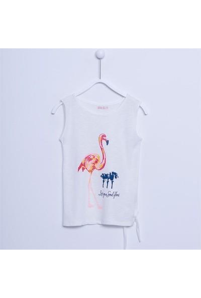 Silversun Kız Çocuk Flamingo Baskılı Kolsuz T-Shirt BK 312463