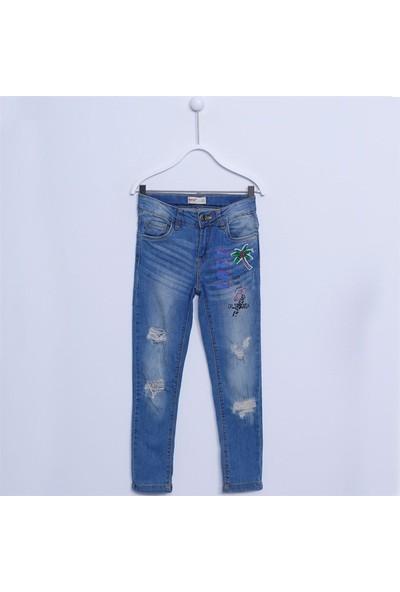 Silversun Kız Çocuk Denim Pantolon Kot Pantolon PC 312159