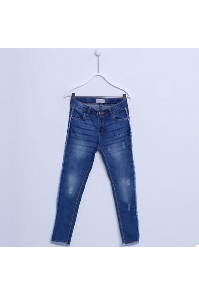 Silversun Kız Çocuk Püskül Detaylı Denim Pantolon PC 311927