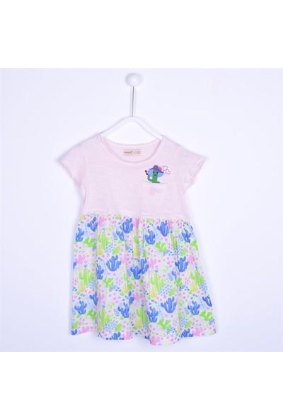 Silversun Kız Çocuk Kısa Kollu Cepli Elbise EK 211341