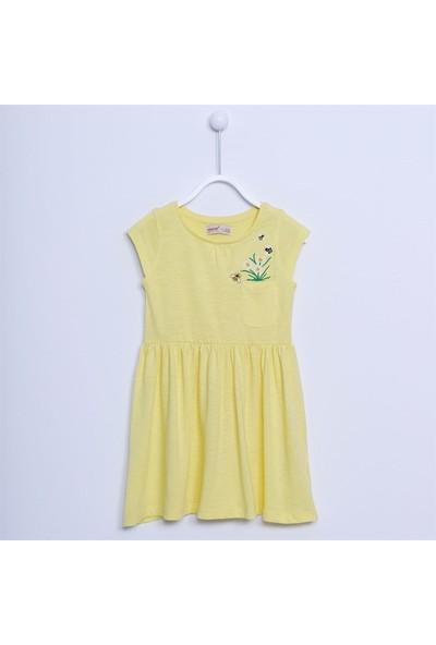 Silversun Kız Çocuk Kısa Kollu Cepli Elbise EK 212001