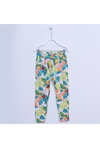 Silversun Kız Çocuk Desenli Pantolon JP 211603